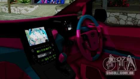 Toyota Vellfire Miku Pocky Exhaust v2 para GTA San Andreas vista direita