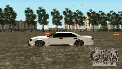 Nissan Cedric WideBody para GTA San Andreas esquerda vista