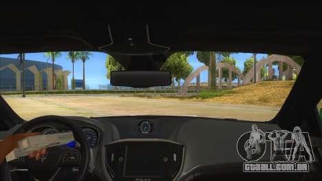 Maserati Iranian Police para GTA San Andreas vista interior