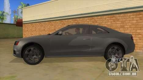 Audi S5 Sedan V8 para GTA San Andreas esquerda vista
