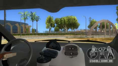 Fiat Multipla FAKETAXI para GTA San Andreas vista interior