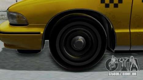 Chevrolet Caprice 1991 Taxi para GTA San Andreas traseira esquerda vista