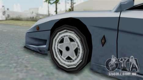 RC Turismo para GTA San Andreas traseira esquerda vista