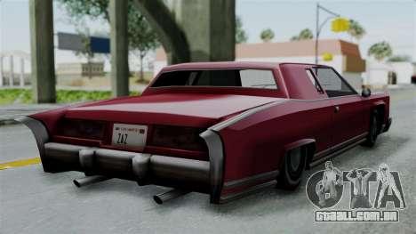 Remington Las Vivas para GTA San Andreas esquerda vista