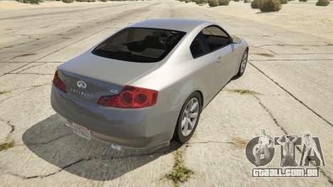 GTA 5 Infiniti G35 traseira vista lateral esquerda