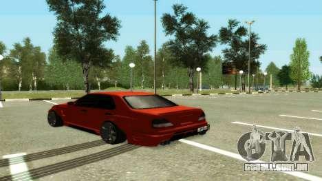 Nissan Cedric WideBody para GTA San Andreas traseira esquerda vista