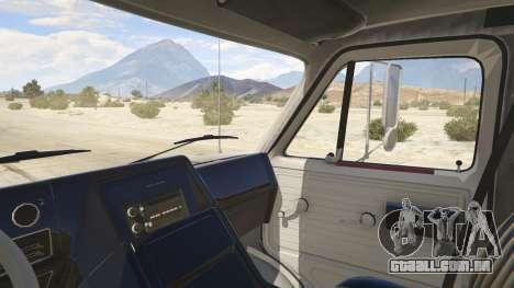 GTA 5 Chevrolet G-30 Cube Truck traseira direita vista lateral