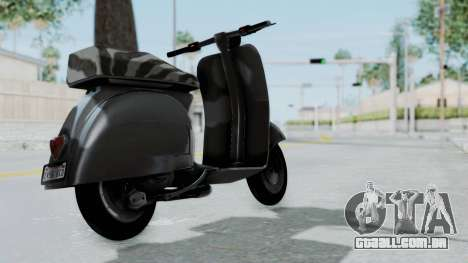 GTA 5 Principe Faggio para GTA San Andreas esquerda vista
