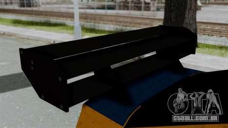 GTA 5 Karin Sultan RS Drift Big Spoiler para GTA San Andreas vista traseira
