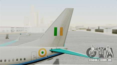 Boeing 737-800 Business Jet Indian Air Force para GTA San Andreas traseira esquerda vista