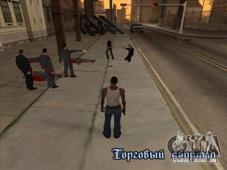 Os russos, no distrito Comercial v2 para GTA San Andreas quinto tela
