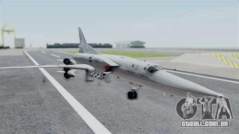 TU-22M3 Cinza para GTA San Andreas