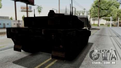 Point Blank Black Panther Rusty IVF para GTA San Andreas traseira esquerda vista