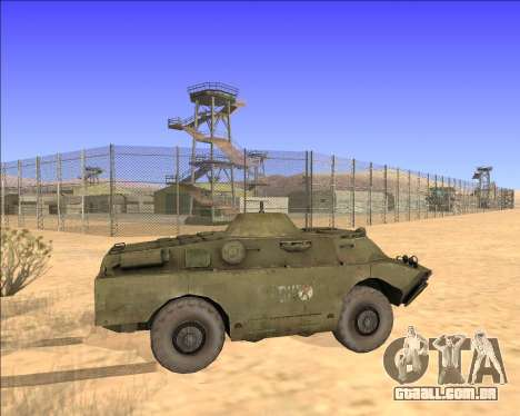 BRDM-2ЛД para GTA San Andreas vista interior