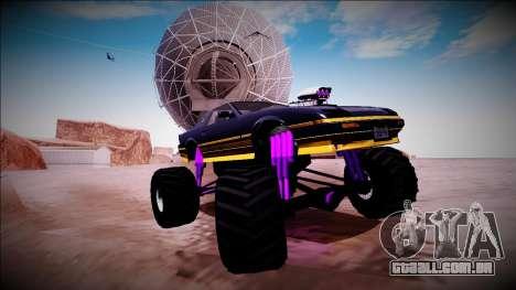GTA 5 Imponte Ruiner Monster Truck para GTA San Andreas vista inferior