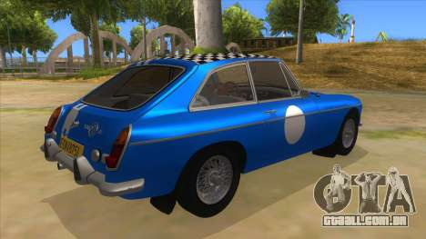 Richard Hammond MGB GT Top Gear para GTA San Andreas vista direita