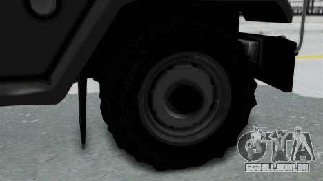 Jeep con Estacas Stylo Colombia para GTA San Andreas traseira esquerda vista