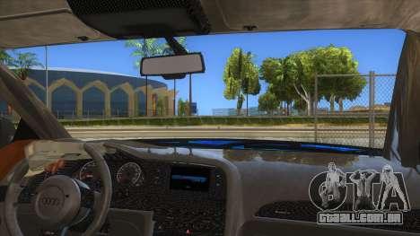 Audi RS6 Blue Star Badgged para GTA San Andreas vista interior