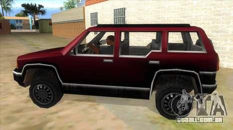 GTA III Landstalker para GTA San Andreas esquerda vista