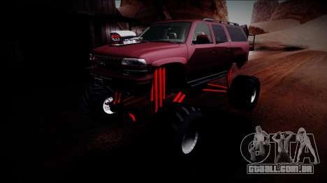 2003 Chevrolet Suburban Monster Truck para GTA San Andreas vista inferior
