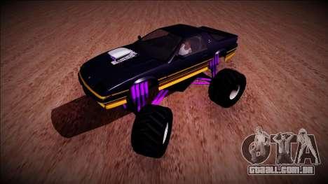 GTA 5 Imponte Ruiner Monster Truck para GTA San Andreas esquerda vista