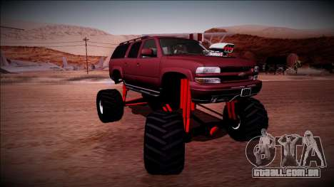 2003 Chevrolet Suburban Monster Truck para GTA San Andreas vista interior