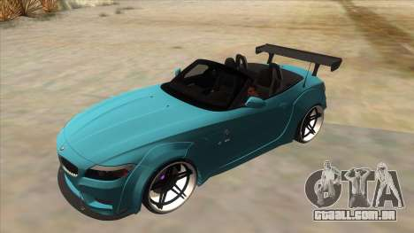BMW Z4 Liberty Walk Performance para GTA San Andreas vista superior