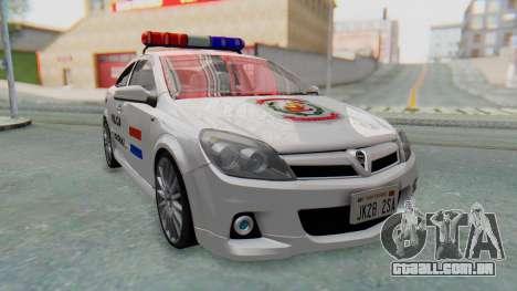 Opel-Vauxhall Astra Policia para GTA San Andreas traseira esquerda vista