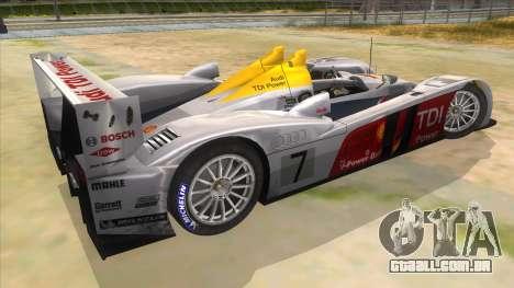 Audi R10 para GTA San Andreas vista direita