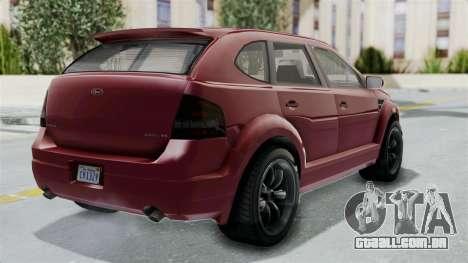 GTA 5 Vapid Radius IVF para GTA San Andreas esquerda vista