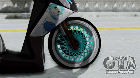Honda Vario 110 Hatsune Miku Itansha para GTA San Andreas traseira esquerda vista