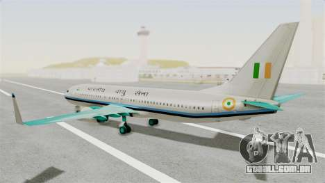 Boeing 737-800 Business Jet Indian Air Force para GTA San Andreas esquerda vista