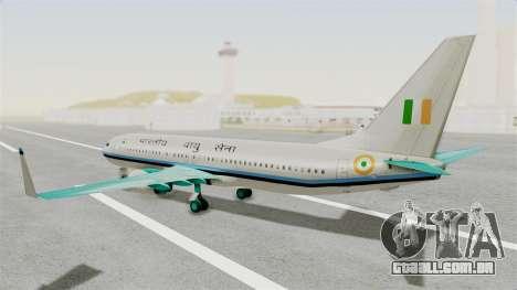 Boeing 737-800 Business Jet Indian Air Force para GTA San Andreas esquerda vista