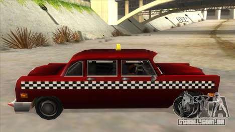 GTA3 Borgnine Cab para GTA San Andreas esquerda vista
