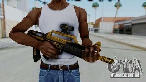GTA 5 Online Lowriders DLC Bullpup Rifle para GTA San Andreas terceira tela