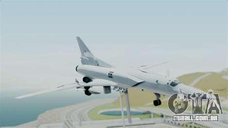 TU-22M3 para GTA San Andreas traseira esquerda vista