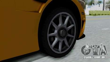Koenigsegg CCXR 2013 para GTA San Andreas vista direita