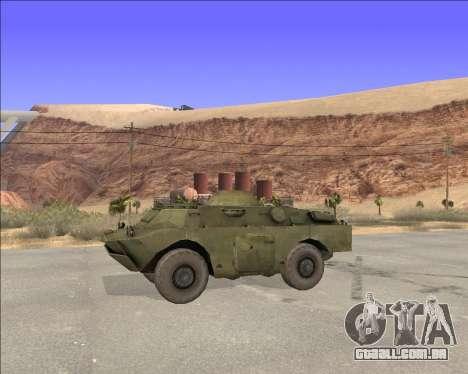 BRDM-2ЛД para GTA San Andreas esquerda vista