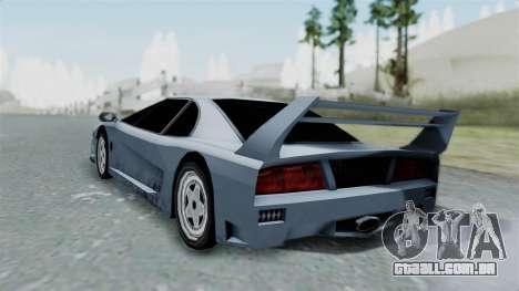 RC Turismo para GTA San Andreas esquerda vista