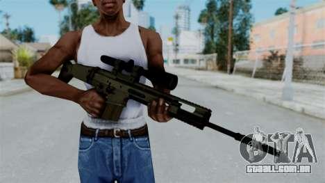 SCAR-20 v1 No Supressor para GTA San Andreas terceira tela