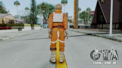 SWTFU - Luke Skywalker Pilot Outfit para GTA San Andreas terceira tela