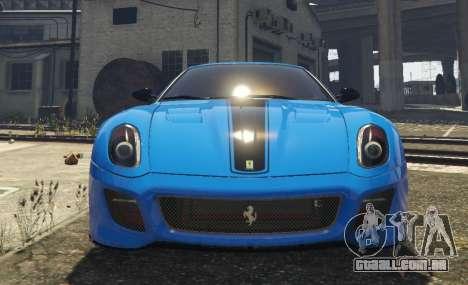 GTA 5 Ferrari 599 GTO[Replace] voltar vista