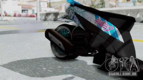 Honda Vario 110 Hatsune Miku Itansha para GTA San Andreas vista direita