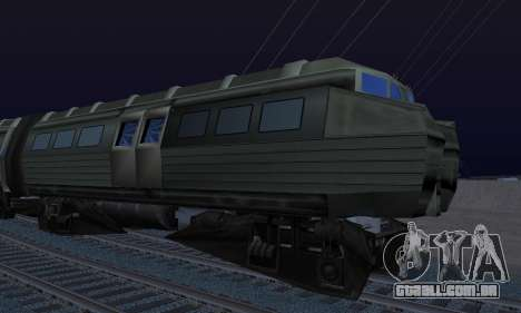 Batman Begins Monorail Train Vagon v1 para GTA San Andreas vista traseira
