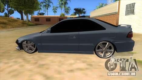 Honda Civic Coupe 1995 para GTA San Andreas esquerda vista