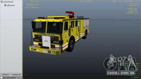 GTA 5 Los Angeles Fire Truck vista lateral direita