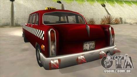 GTA3 Borgnine Cab para GTA San Andreas vista traseira