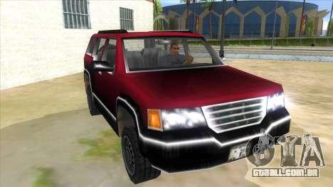 GTA III Landstalker para GTA San Andreas vista traseira