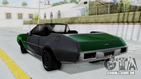 Clover Cabrio para GTA San Andreas esquerda vista