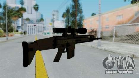 SCAR-20 v1 No Supressor para GTA San Andreas segunda tela
